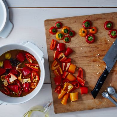 Quick Hot Pickled Peppers