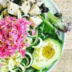 Spiralized Cucumber & Sauerkraut Salad