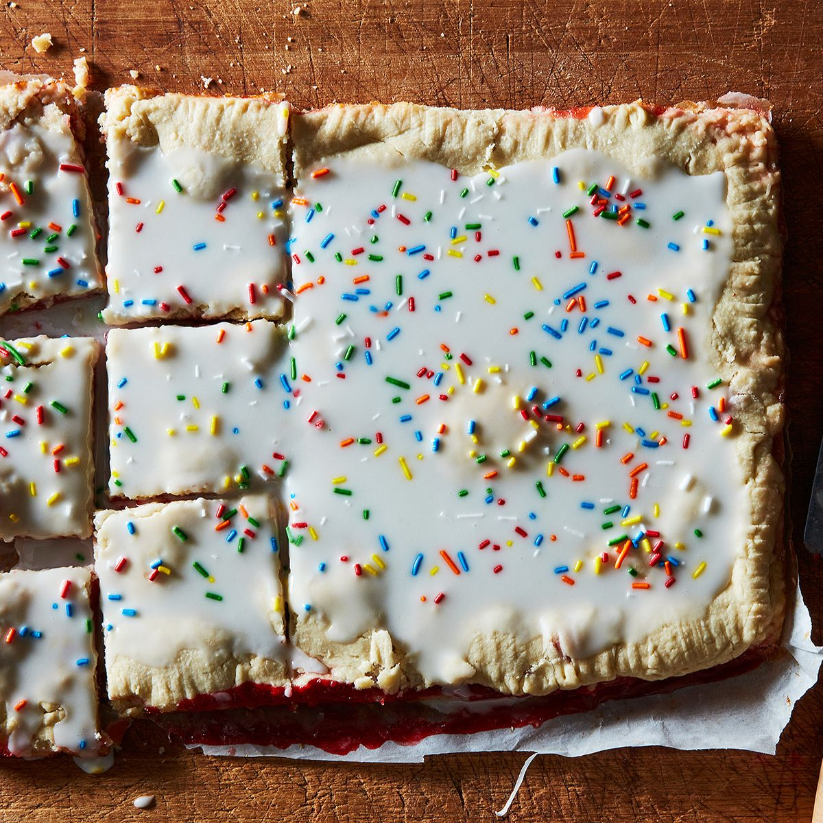 Strawberry Pop Tart Slab Pie