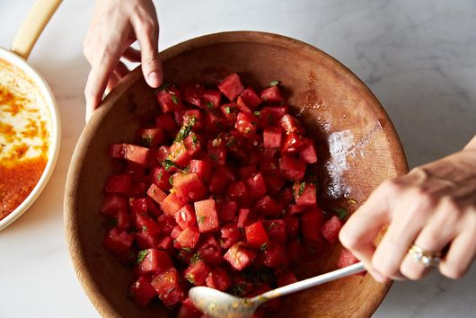 Watermelon Tomato Salad with Cumin & Fennel