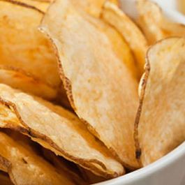 Baked Potato Chips with Chive Dip
