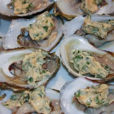 Basil Butter Broiled Oysters