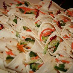 Leftover Turkey Salad in Tortilla Cones (Sandwiches)