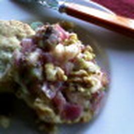 Mini Sage Cheddar Biscuits with Apple Walnut Chutney