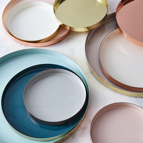 Copper and Brass Louise Trays
