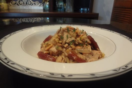 Orzo Pasta Chicken and Dates Salad