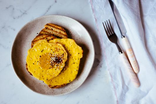 Vegan fried egg-less 'eggs' {soy-free, vegan, gluten-free, dairy-free, egg-free}