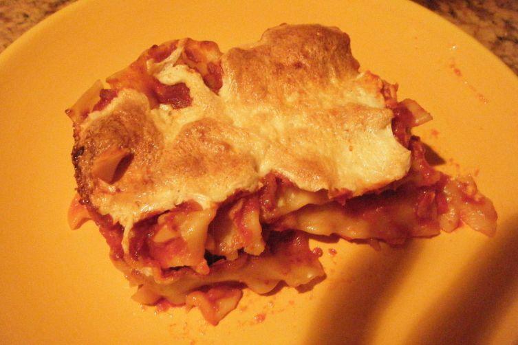 "Lattice Entertain You; Lasagne ""Angry Sicilian Style"""