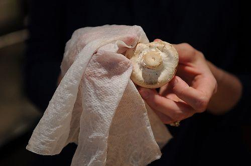 Wiping Mushrooms