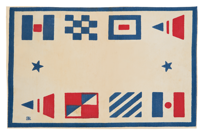 Marguerita Mergentime, Sailing placemat, 1936. Michael Fredericks, © Mergentime Family Archives