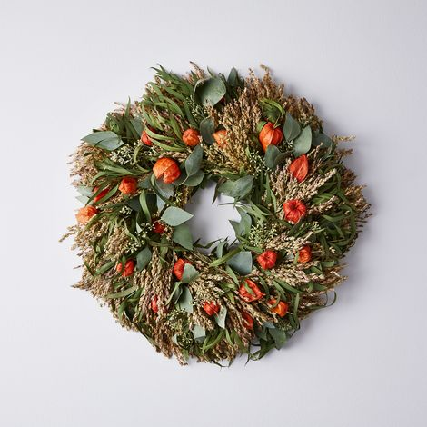Dried Japanese Fall Harvest Wreath