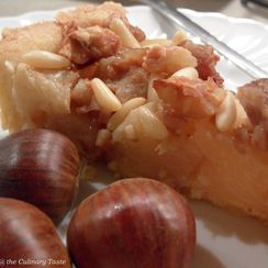 Chestnut and Apple Tart
