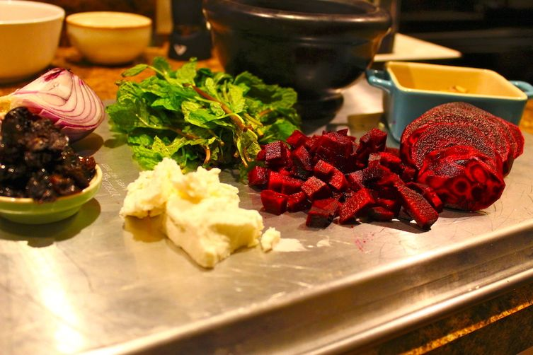 Crunchy Mediterranean Beet and Mint Salad