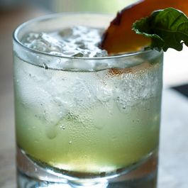 Summery Stone-Fruit Basil and Mint Fizz