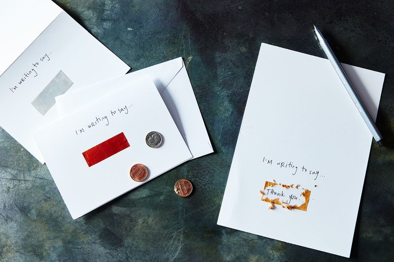 For extra (crafty) credit, make your own scratch-off thank you cards.
