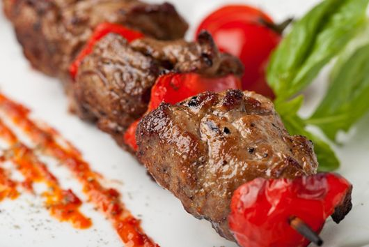 Rosemary Beef and Tomato Kebobs