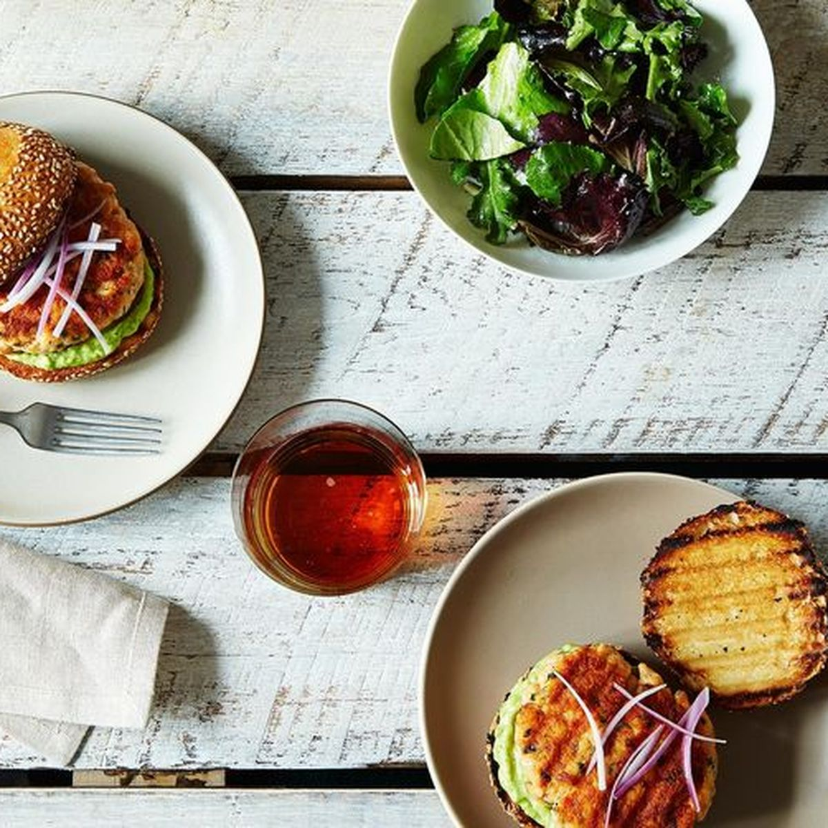 Have Herby Grilled Salmon Burgers For Dinner