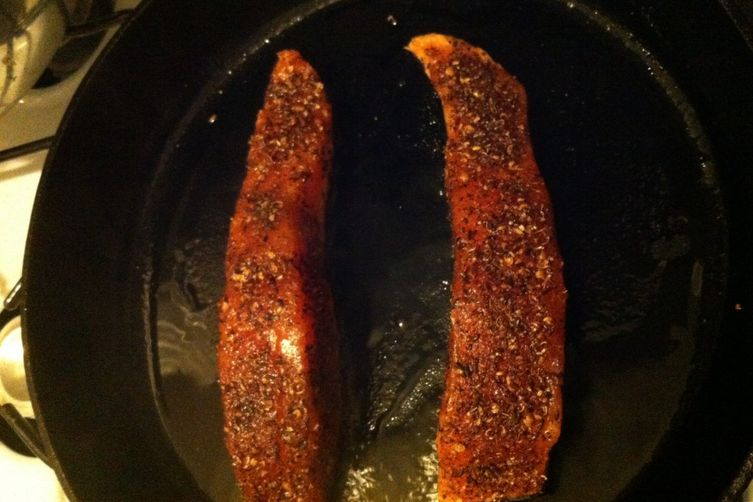 Spice-rubbed Seared Salmon