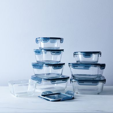 Glass Oven & Freezer Safe Storage Containers (Set of 8)