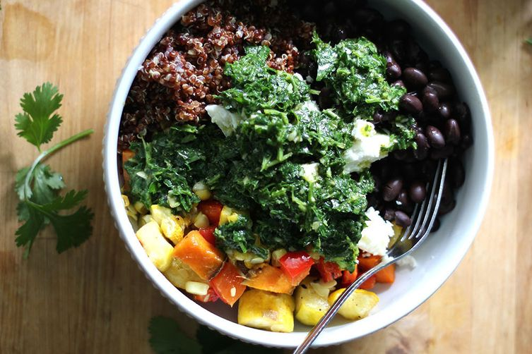 Chimichurri Bowl with Roasted Vegetables