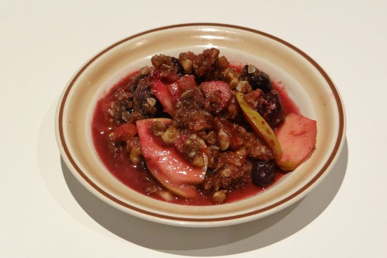Apple, Rhubarb & Mixed Fruit Crisp