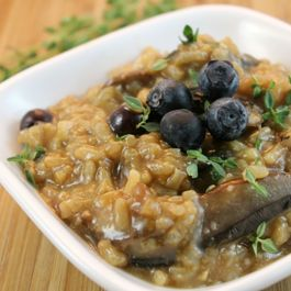 Blueberry-Mushroom Risotto