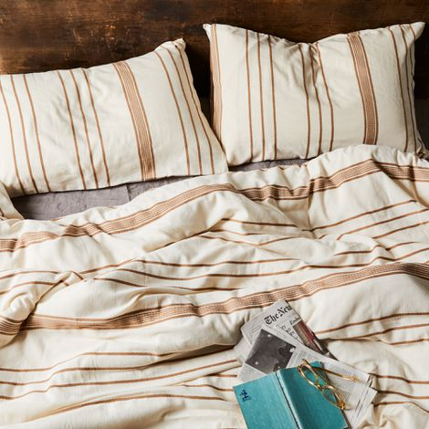 Marlo Striped Cotton Duvet Cover and Pillow Shams
