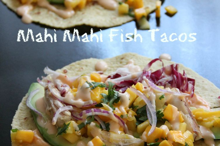 Grilled Mahi Mahi Fish Tacos With Mango Salsa