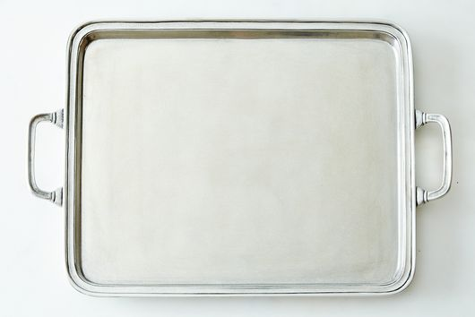 Large Rectangle Pewter Tray