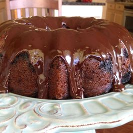 Pumpkin Marbled Bundt Cake with Spicy Ganache