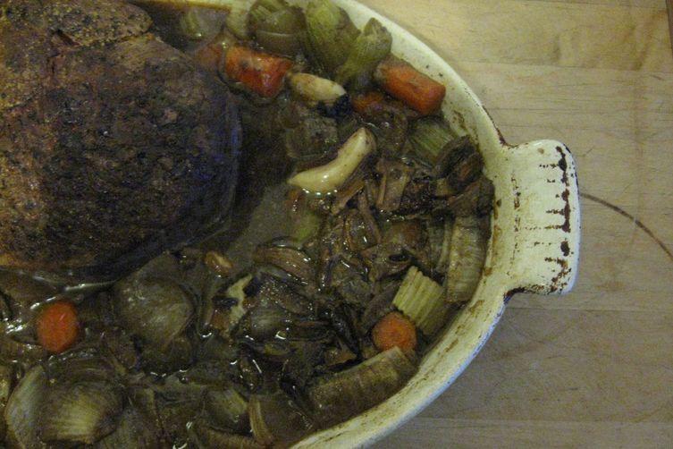 Beer-Braised Bison Roast