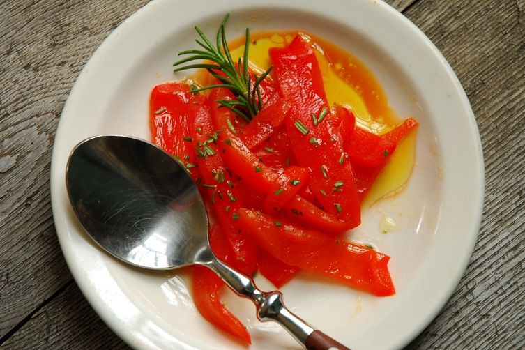 Trattoria Style Sauteed Red Peppers