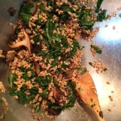 Winter Greens, Farro + Wild Mushroom Salad