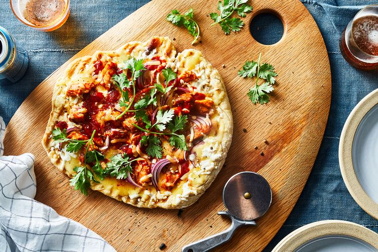 CPK-Style BBQ Chicken Pizza