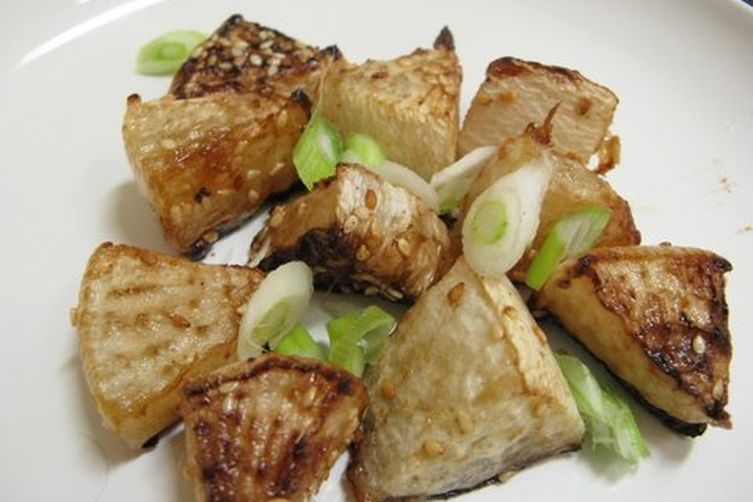 Roasted Radishes with Soy and Honey Vinegarette