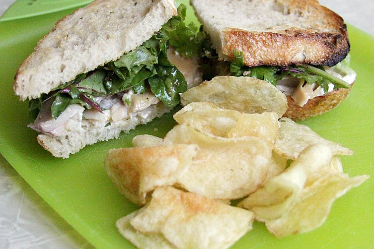Smoked Trout Sandwich with Figgy Salad