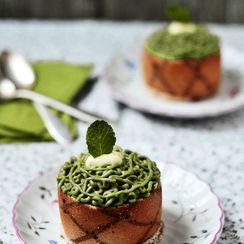 AVOCADO MOUSSE ENTREMETS WITH CHOCOLATE AND ORANGE
