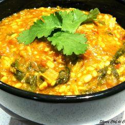 Bok Choy Dal Tadka (Dhaba style)/Bok Choy in Spiced Lentil Curry