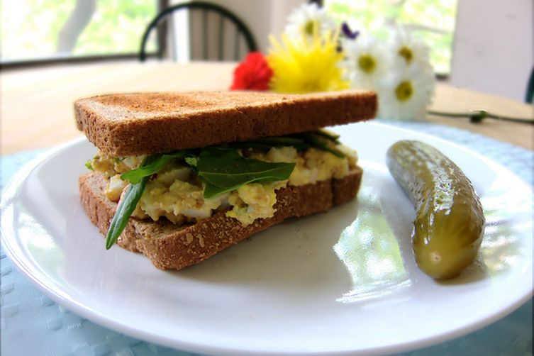 Best ever light egg salad, from the pantry