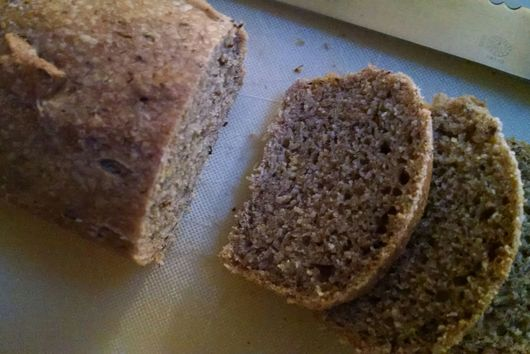 mini sourdough spelt and flax loaf