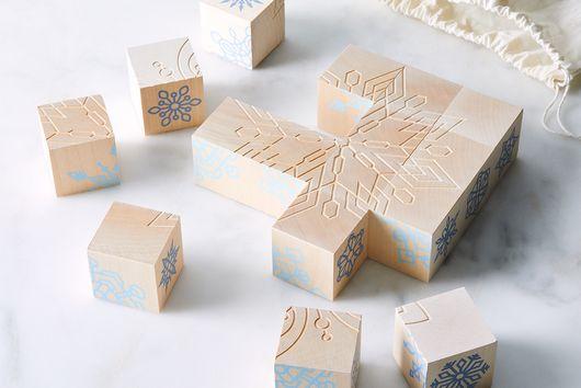 Snowflake Puzzle Blocks