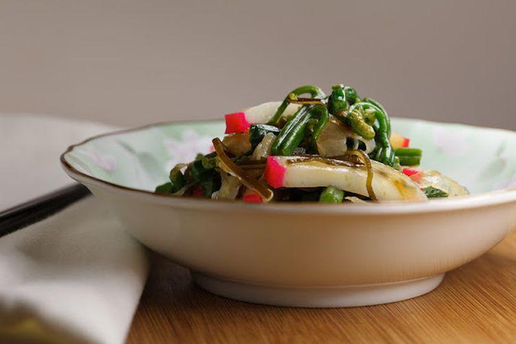 Warabi-Kamaboko Salad