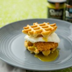Chicken & Waffle Sliders by Kitchen Crafted