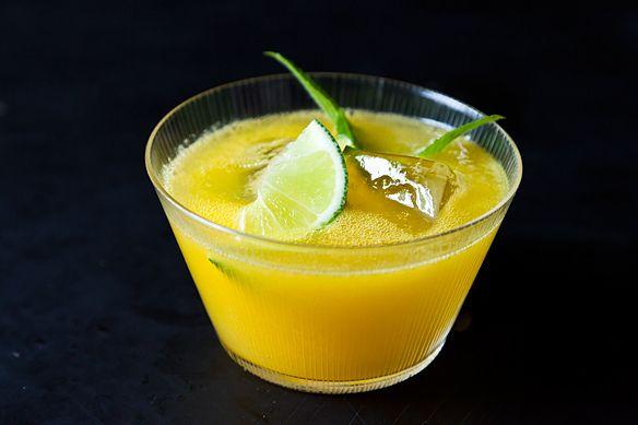 Rum-Spiked Roasted Caramelized Mangoes