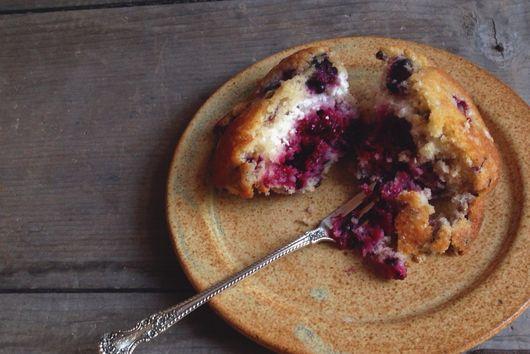 Wild Blackberry Ricotta Muffins