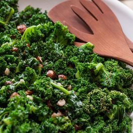 Kale Salad with Toasted Hazelnuts and Caraway Seeds