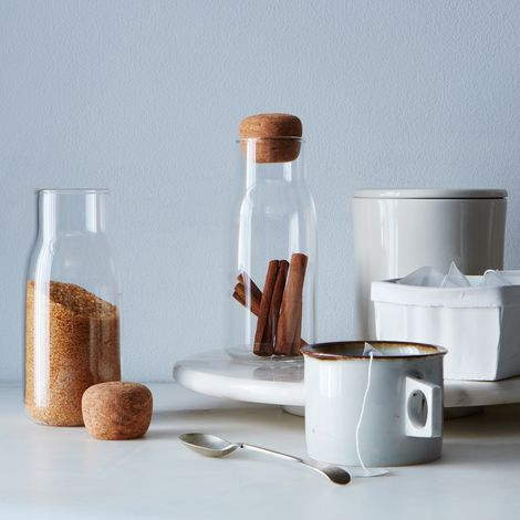 Glass & Cork Canisters (Set of 2)