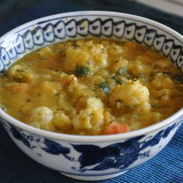 Red Lentil & Cauliflower Soup by Marivic Restivo