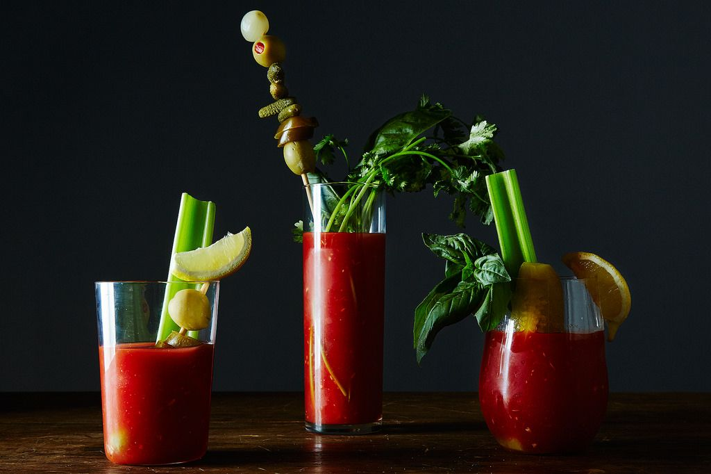 Bloody Mary Garnish test