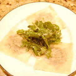 """Truffled Wild Mushroom Ravioli """"Salad"""""""
